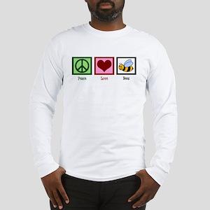 Peace Love Bees Long Sleeve T-Shirt