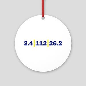Triathlon Distance Blue Yello Ornament (Round)
