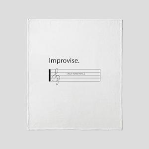 Music Not Same Throw Blanket