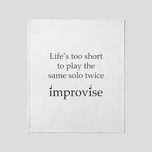 Improvise Solos Throw Blanket