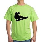 Snowboarding Green T-Shirt