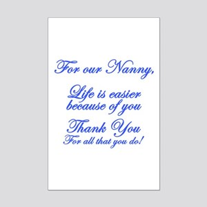For our Nanny Mini Poster Print