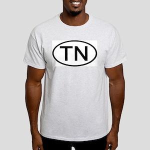 Tennessee - TN - US Oval Ash Grey T-Shirt