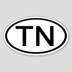 Tennessee - TN - US Oval Oval Sticker