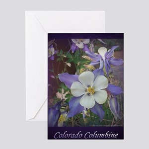 Colorado Columbines - Greeting Card