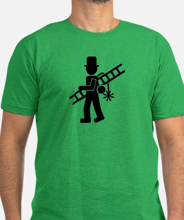 Chimney sweeper Men's Fitted T-Shirt (dark)