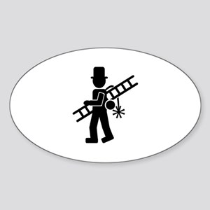 Chimney sweeper Sticker (Oval)