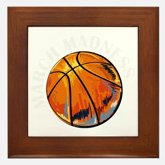Cute March madness Framed Tile