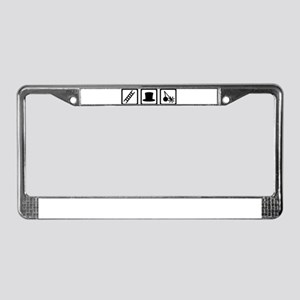 Chimney sweeper License Plate Frame
