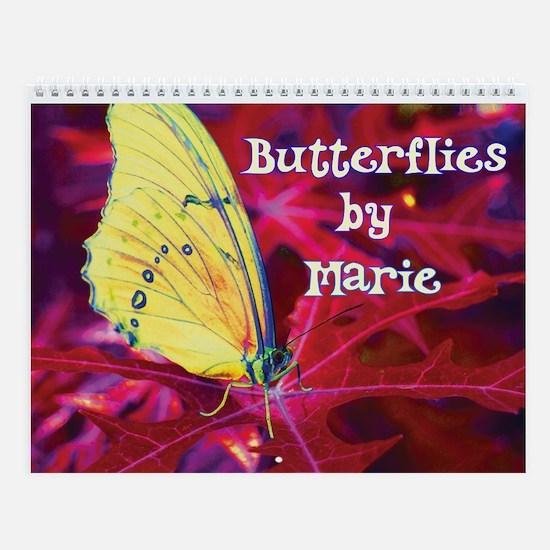 Abstract Color Butterflies Wall Calendar