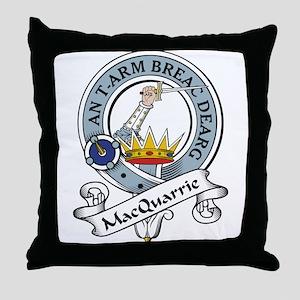 MacQuarrie Clan Badge Throw Pillow