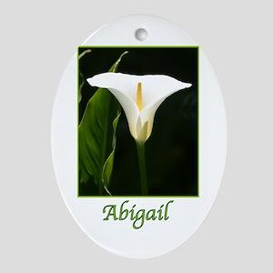 Abigail Ornament (Oval)