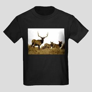 bull elk Kids Dark T-Shirt