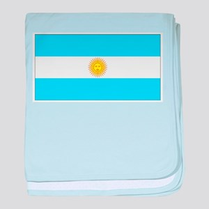 Argentina Blank Flag baby blanket