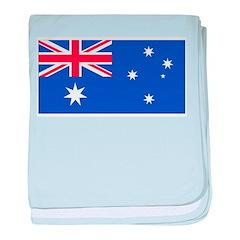 Australia Blank Flag baby blanket