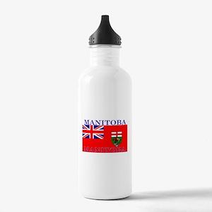 Manitoba Manitoban Flag Stainless Water Bottle 1.0
