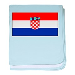 Croatia Blank Flag baby blanket