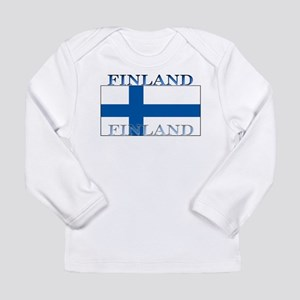 Finland Finish Flag Long Sleeve Infant T-Shirt