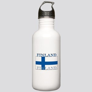 Finland Finish Flag Stainless Water Bottle 1.0L