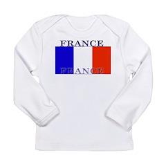 France French Flag Long Sleeve Infant T-Shirt