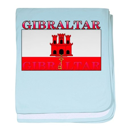 Gibraltar Flag baby blanket