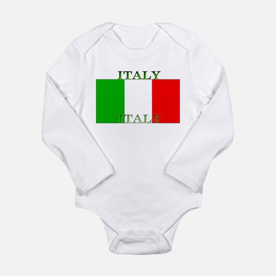 Italy Italian Flag Long Sleeve Infant Bodysuit