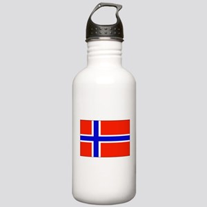 Norway Norwegian Blank Flag Stainless Water Bottle