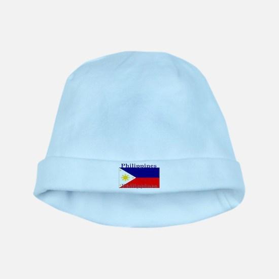 Philippines Filipino Flag baby hat
