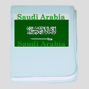 Saudi Arabia Arabian Flag baby blanket
