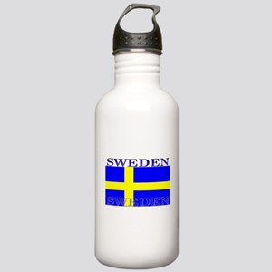 Sweden Swedish Flag Stainless Water Bottle 1.0L