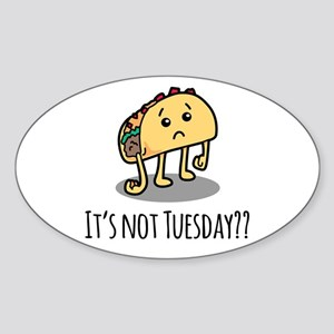 Not Taco Tuesday - Black Sticker