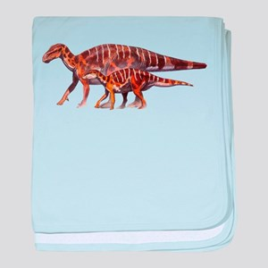 Iguanodon Jurassic Dinosaur baby blanket
