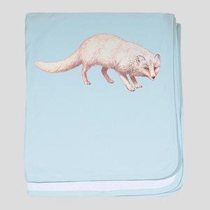 Arctic Fox Animal Lover baby blanket