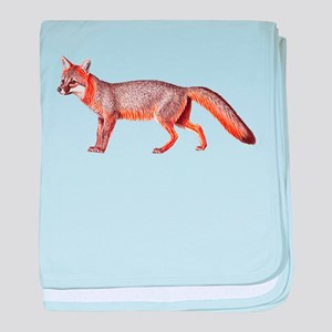 Gray Fox Animal Lover baby blanket