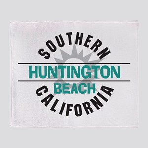 Huntington Beach California Throw Blanket
