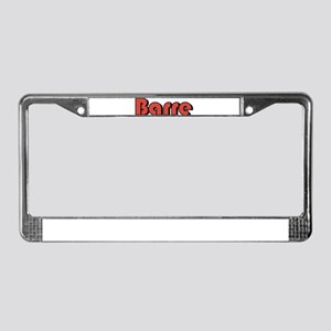 Barre, Vermont License Plate Frame
