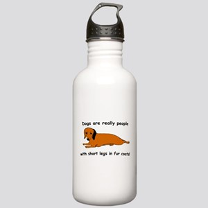 Dachshund Dogs Fur Coat Stainless Water Bottle 1.0