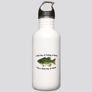 Bad Day Fishing Bass Stainless Water Bottle 1.0L