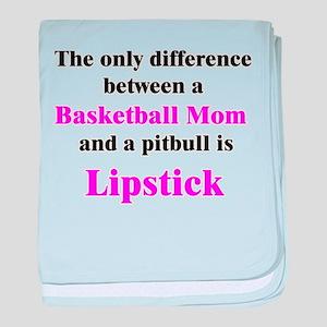 Basketball Mom Pitbull Palin baby blanket