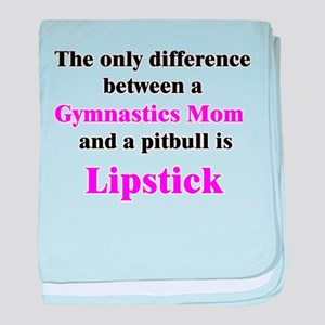 Gymnastics Mom Pitbull Lipsti baby blanket