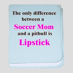 Soccer Mom Pitbull Lipstick baby blanket