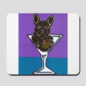 Black French Bulldog Mousepad