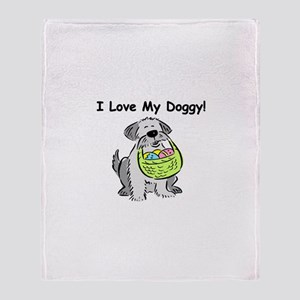 Happy Easter Dog Doggy Throw Blanket
