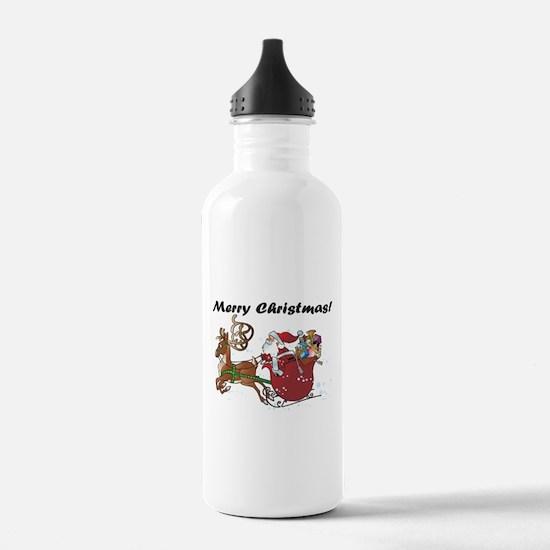 Merry Christmas Santa Water Bottle