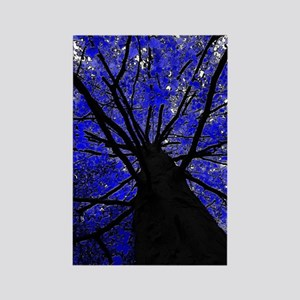 Midnight Tree Rectangle Magnet