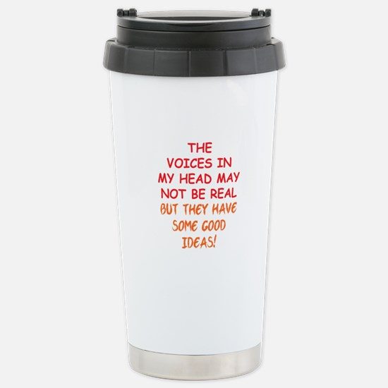 Voices in my Head Stainless Steel Travel Mug