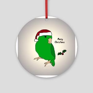 Santa Green Parrotlet Female Ornament
