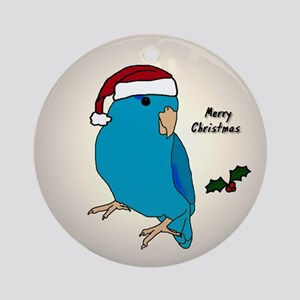 Santa Blue Parrotlet Male Ornament