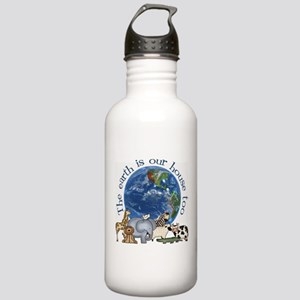 The Earth Is Our House Too Stainless Water Bottle