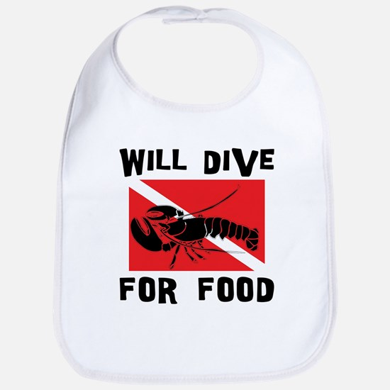 Will Dive For Food SCUBA Bib